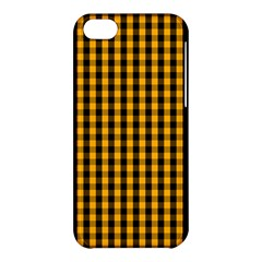Pale Pumpkin Orange And Black Halloween Gingham Check Apple Iphone 5c Hardshell Case by PodArtist