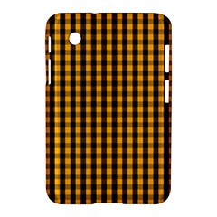 Pale Pumpkin Orange And Black Halloween Gingham Check Samsung Galaxy Tab 2 (7 ) P3100 Hardshell Case  by PodArtist