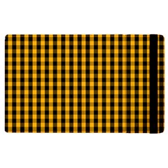 Pale Pumpkin Orange And Black Halloween Gingham Check Apple Ipad Pro 9 7   Flip Case by PodArtist