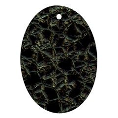 Jagged Stone 2d Oval Ornament (two Sides) by MoreColorsinLife