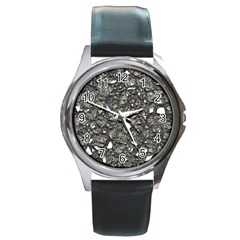 Jagged Stone 3a Round Metal Watch