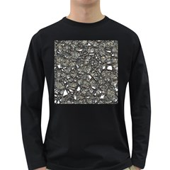 Jagged Stone 3a Long Sleeve Dark T Shirts by MoreColorsinLife