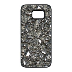 Jagged Stone 3a Samsung Galaxy S7 Edge Black Seamless Case by MoreColorsinLife