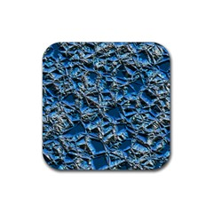 Jagged Stone 2c Rubber Coaster (square)  by MoreColorsinLife