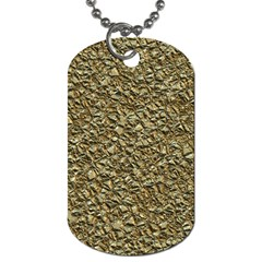 Jagged Stone Golden Dog Tag (one Side) by MoreColorsinLife