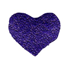 Jagged Stone Blue Standard 16  Premium Heart Shape Cushions by MoreColorsinLife