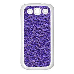 Jagged Stone Blue Samsung Galaxy S3 Back Case (white) by MoreColorsinLife