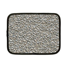 Jagged Stone Silver Netbook Case (small)  by MoreColorsinLife