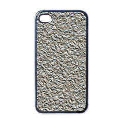 Jagged Stone Silver Apple Iphone 4 Case (black) by MoreColorsinLife