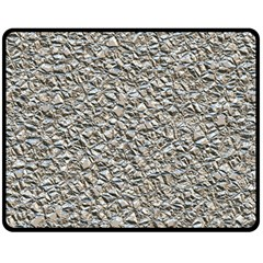 Jagged Stone Silver Double Sided Fleece Blanket (medium)  by MoreColorsinLife