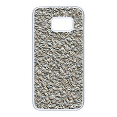 Jagged Stone Silver Samsung Galaxy S7 White Seamless Case
