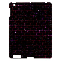 Brick1 Black Marble & Burgundy Marble Apple Ipad 3/4 Hardshell Case by trendistuff