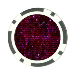 Brick1 Black Marble & Burgundy Marble (r) Poker Chip Card Guard by trendistuff