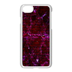 Brick1 Black Marble & Burgundy Marble (r) Apple Iphone 7 Seamless Case (white) by trendistuff