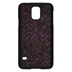 Brick2 Black Marble & Burgundy Marble Samsung Galaxy S5 Case (black) by trendistuff