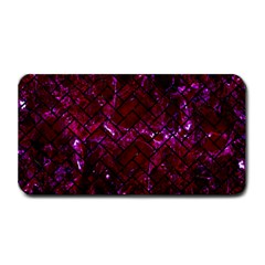 Brick2 Black Marble & Burgundy Marble (r) Medium Bar Mats by trendistuff