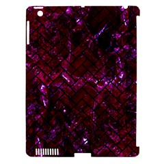Brick2 Black Marble & Burgundy Marble (r) Apple Ipad 3/4 Hardshell Case (compatible With Smart Cover) by trendistuff