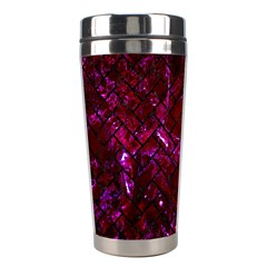 Brick2 Black Marble & Burgundy Marble (r) Stainless Steel Travel Tumblers by trendistuff
