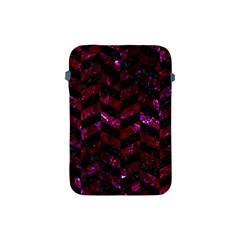 Chevron1 Black Marble & Burgundy Marble Apple Ipad Mini Protective Soft Cases by trendistuff