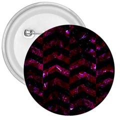 Chevron2 Black Marble & Burgundy Marble 3  Buttons by trendistuff