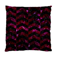 Chevron2 Black Marble & Burgundy Marble Standard Cushion Case (one Side) by trendistuff