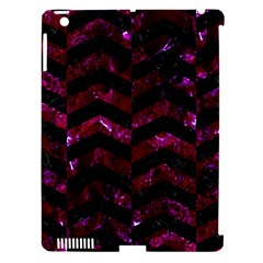 Chevron2 Black Marble & Burgundy Marble Apple Ipad 3/4 Hardshell Case (compatible With Smart Cover) by trendistuff