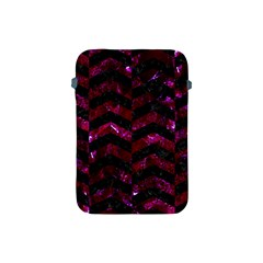 Chevron2 Black Marble & Burgundy Marble Apple Ipad Mini Protective Soft Cases by trendistuff