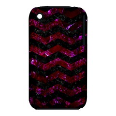 Chevron3 Black Marble & Burgundy Marble Iphone 3s/3gs by trendistuff