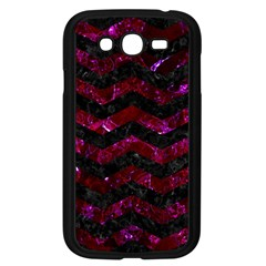 Chevron3 Black Marble & Burgundy Marble Samsung Galaxy Grand Duos I9082 Case (black) by trendistuff