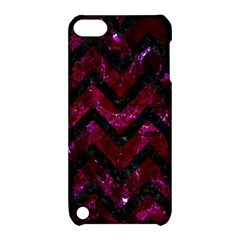 Chevron9 Black Marble & Burgundy Marble (r) Apple Ipod Touch 5 Hardshell Case With Stand by trendistuff