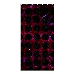 Circles1 Black Marble & Burgundy Marble (r) Shower Curtain 36  X 72  (stall)  by trendistuff