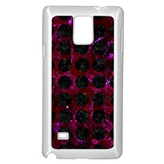 Circles1 Black Marble & Burgundy Marble (r) Samsung Galaxy Note 4 Case (white) by trendistuff