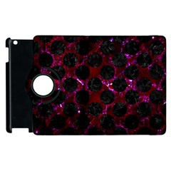 Circles2 Black Marble & Burgundy Marble (r) Apple Ipad 2 Flip 360 Case by trendistuff