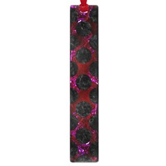 Circles2 Black Marble & Burgundy Marble (r) Large Book Marks by trendistuff