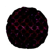 Circles2 Black Marble & Burgundy Marble (r) Standard 15  Premium Flano Round Cushions by trendistuff