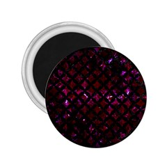 Circles3 Black Marble & Burgundy Marble (r) 2 25  Magnets by trendistuff