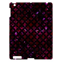 Circles3 Black Marble & Burgundy Marble (r) Apple Ipad 3/4 Hardshell Case by trendistuff