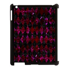 Diamond1 Black Marble & Burgundy Marble Apple Ipad 3/4 Case (black) by trendistuff