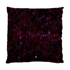 Damask1 Black Marble & Burgundy Marble Standard Cushion Case (one Side) by trendistuff