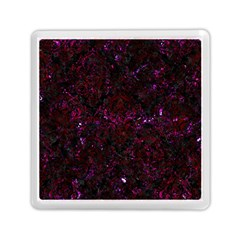 Damask1 Black Marble & Burgundy Marble Memory Card Reader (square)  by trendistuff