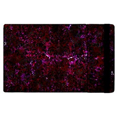 Damask2 Black Marble & Burgundy Marble (r) Apple Ipad 2 Flip Case by trendistuff