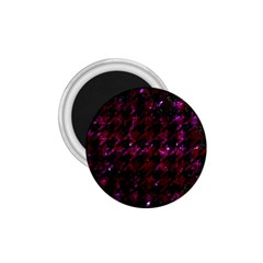 Houndstooth1 Black Marble & Burgundy Marble 1 75  Magnets by trendistuff
