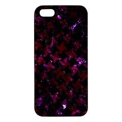 Houndstooth2 Black Marble & Burgundy Marble Iphone 5s/ Se Premium Hardshell Case by trendistuff