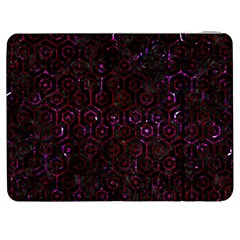 Hexagon1 Black Marble & Burgundy Marble Samsung Galaxy Tab 7  P1000 Flip Case by trendistuff
