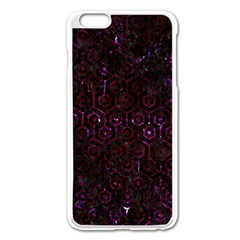 Hexagon1 Black Marble & Burgundy Marble Apple Iphone 6 Plus/6s Plus Enamel White Case by trendistuff