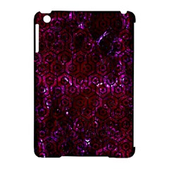 Hexagon1 Black Marble & Burgundy Marble (r) Apple Ipad Mini Hardshell Case (compatible With Smart Cover) by trendistuff