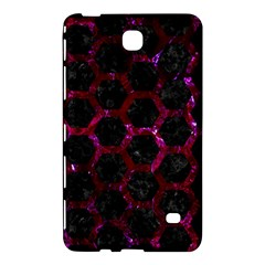 Hexagon2 Black Marble & Burgundy Marble Samsung Galaxy Tab 4 (8 ) Hardshell Case  by trendistuff