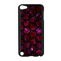 Hexagon2 Black Marble & Burgundy Marble (r) Apple Ipod Touch 5 Case (black) by trendistuff