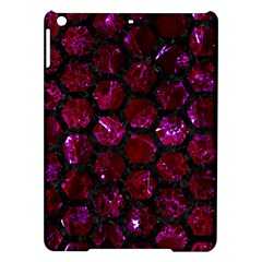 Hexagon2 Black Marble & Burgundy Marble (r) Ipad Air Hardshell Cases by trendistuff