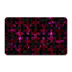 Puzzle1 Black Marble & Burgundy Marble Magnet (rectangular) by trendistuff
